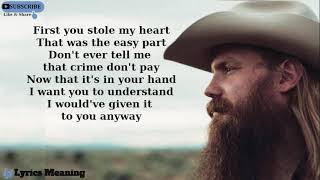 Chris Stapleton - Second One To Know | Lyrics Meaning