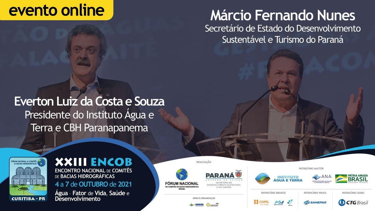 Everton Souza e Márcio Nunes convidam a todos para participarem do XXIII ENCOB 2021