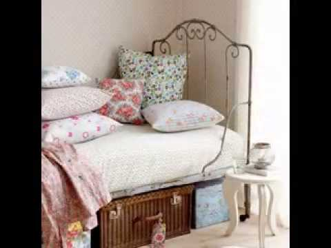 DIY Vintage style bedroom design decorating ideas - YouTube