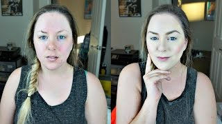 wet n wild photo focus foundation review wear test for dry and pale skin   makeupbymegb