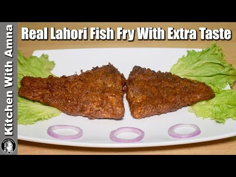Real Lahori Fish Fry Recipe With Extra Taste - Lahori Fried Fish Recipe - Kitchen With Amna