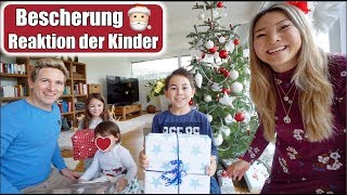 Geschenke auspacken 😍 Reaktion der Kinder | Bescherung Heiligabend Weihnachten 2018 | Mamiseelen
