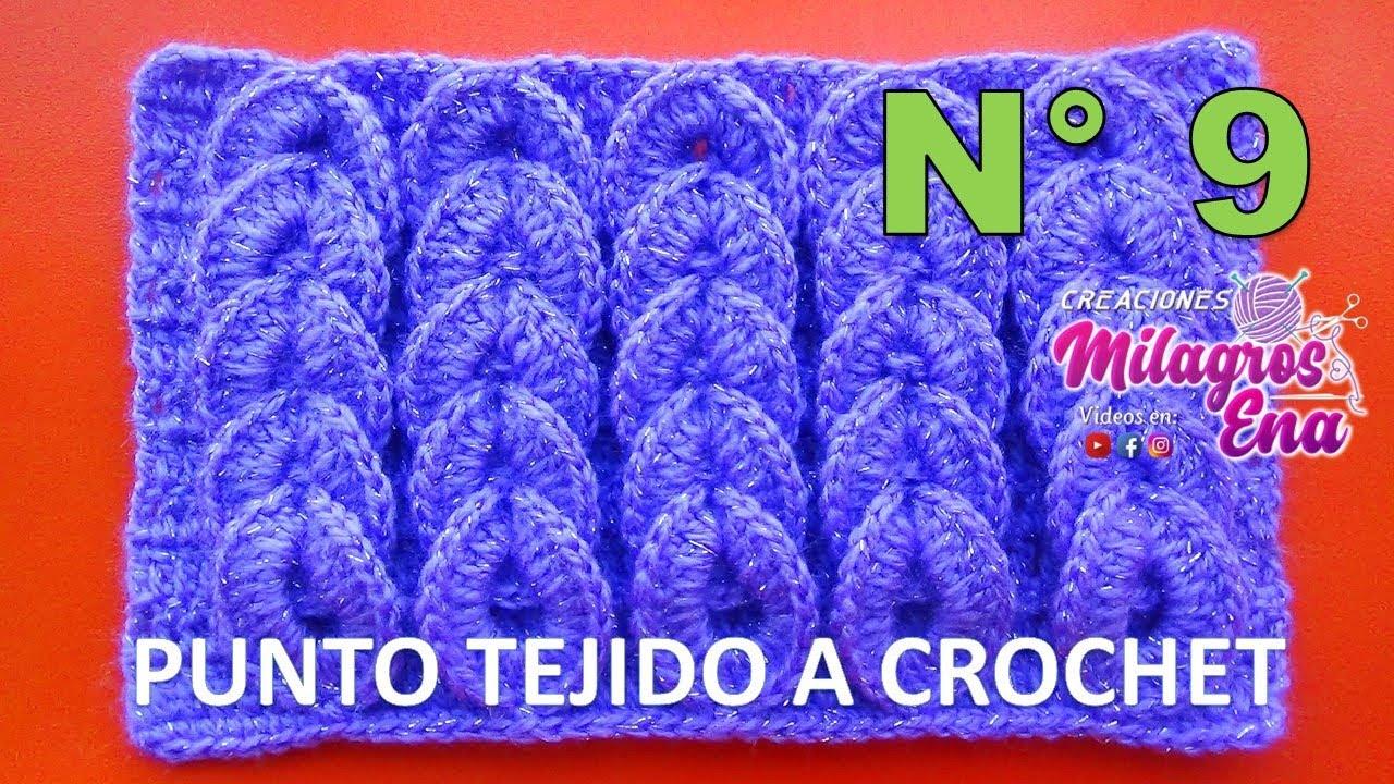 Punto tejido a crochet 9 para bufandas y cobijas de bebe - Punto de ganchillo para mantas ...