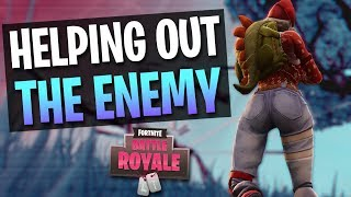 HELPING OUT THE ENEMY - Tfue Fortnite Twitch Highlights #7