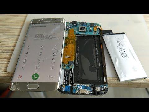 SAMSUNG S6 EDGE. Замена стекла без заморозки! Эксперимент