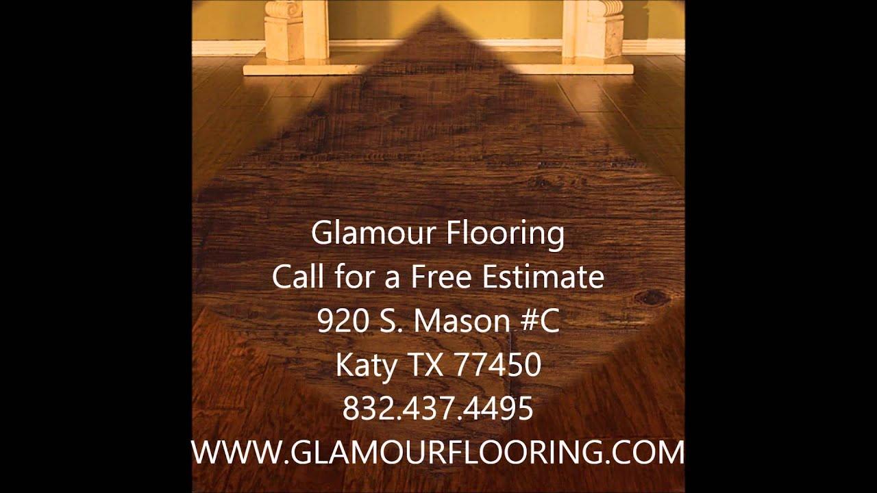 Elbrus hickory gunstock handscraped wood floors katy tx for Hardwood floors katy tx