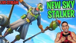 NEW SKY WALKER SKIN! 10,000 Fake Solo Wins, 300k L's 3,000 Fortnite Live Stream
