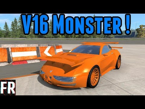 Automation/BeamNG Drive - V16 Monster ! - Autocross #22