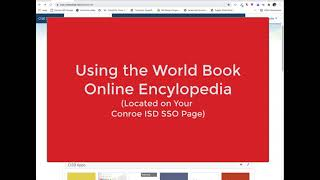 Using the World Book Encyclopedia Online