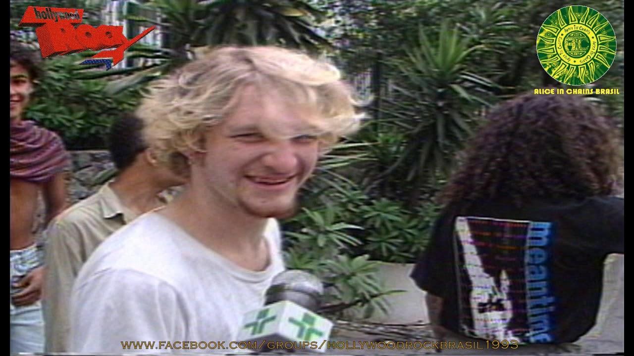 Layne Staley do Alice in Chains em São Paulo - 14.01.1993