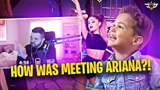 CONNOR REACTS TO COURAGE MEETING ARIANA GRANDE!!! HE COULDN'T BELIEVE IT! (Fortnite: Battle Royale)