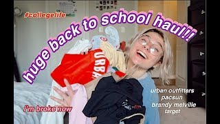 MASSIVE back to school TRY-ON haul ~yay college~