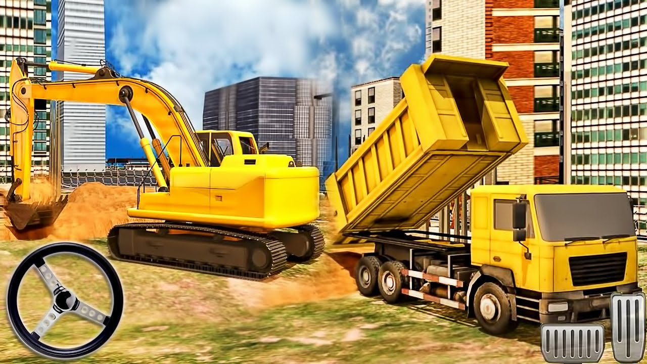 Excavator Real Construction Simulator 2019 - Future City Craft Build -  Android GamePlay