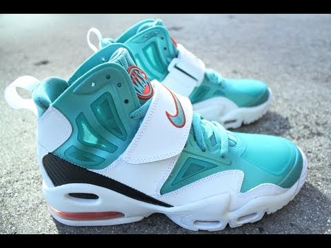 Nike Air Max Express -- White / Sport Turquoise -- Team Orange (Dolphins)