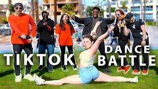Dance battle vs FAMOUS tik tokers in public