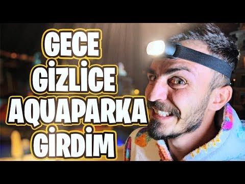 GECE GİZLİCE AQUAPARK 'TA KALMAK!! indir
