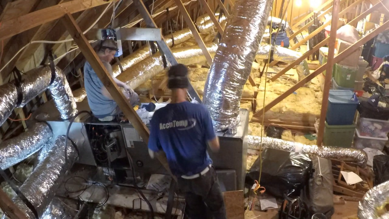 Time Lapse Hvac System Ductwork Replacement With Insulation