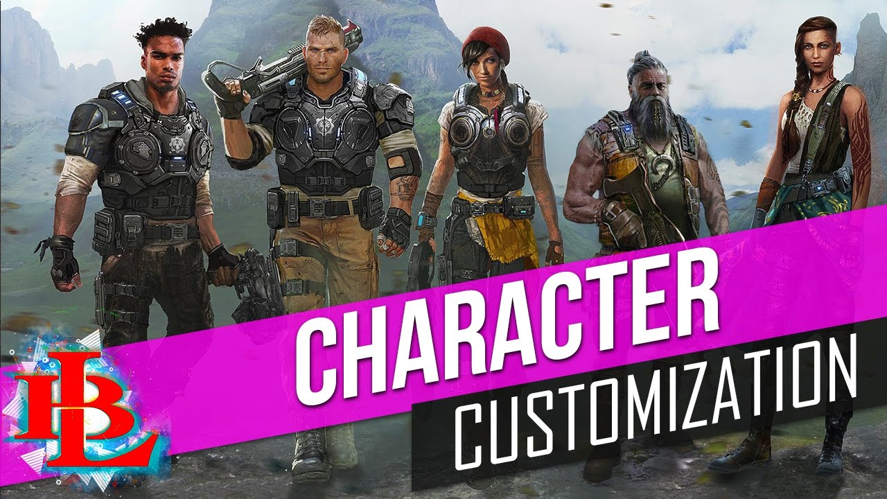 GEARS OF WAR 4 CHARACTER CUSTOMIZATION Weapons, Skins