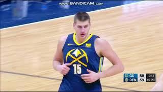 Nikola Jokic 19 Pts vs. Warriors - Denver Nuggets vs. Golden State Warriors - 03/02/2018