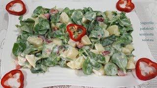 Yoğurtlu Patatesli Semizotu Salatası Tarifi - Hülya Ketenci - yemek Tarifleri