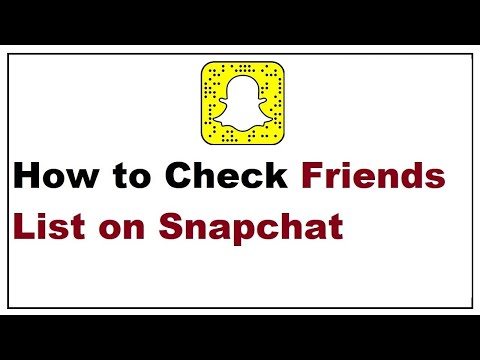 How do you see your friend list on new snapchat