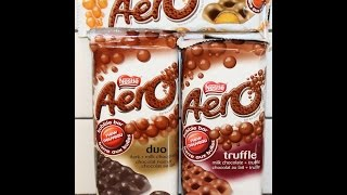 From Canada: Nestle Aero Orange, Aero Duo & Aero Truffle Review