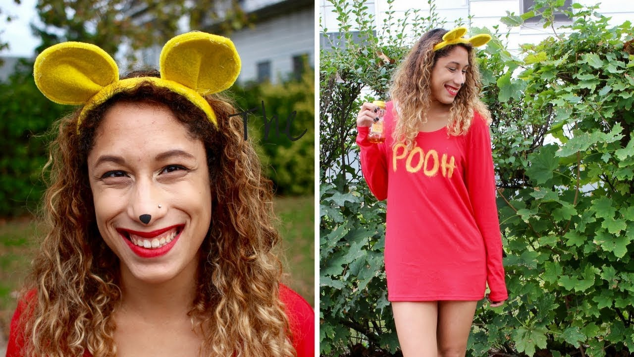 7ef66ebf0ea9 LAST MINUTE DIY WINNIE THE POOH COSTUME For Under  10 - YouTube