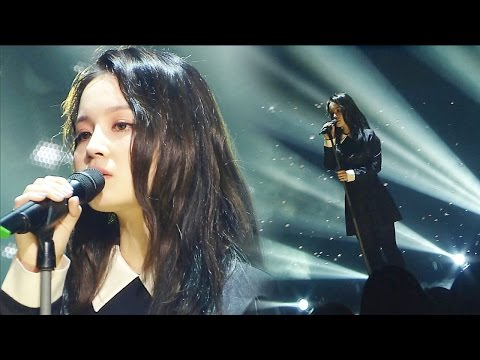 """HEALING SONG"" LEE HI (Bai) - BREATHE (mendesah) @ Popular Inkigayo 20160327"