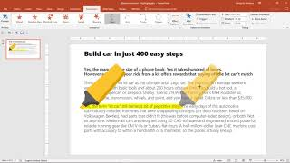 Text animation PowerPoint - Highlight with a marker
