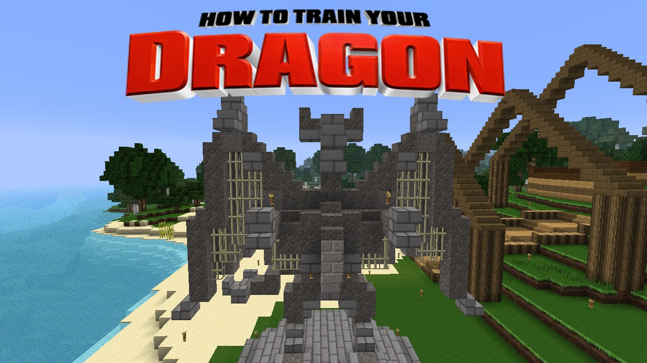 Minecraft - HOW TO TRAIN YOUR DRAGON - Dragon Island ! [22 ...