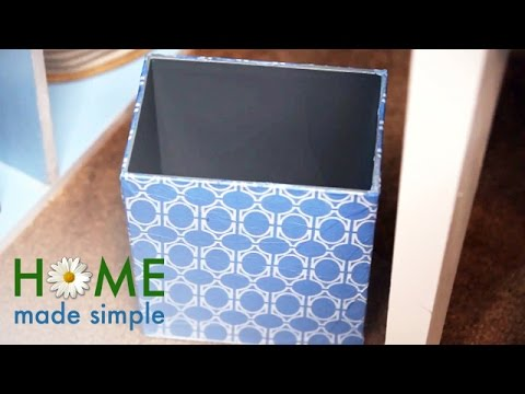 How To Make Over Your Waste Basket | Home Made Simple | Oprah Winfrey Network