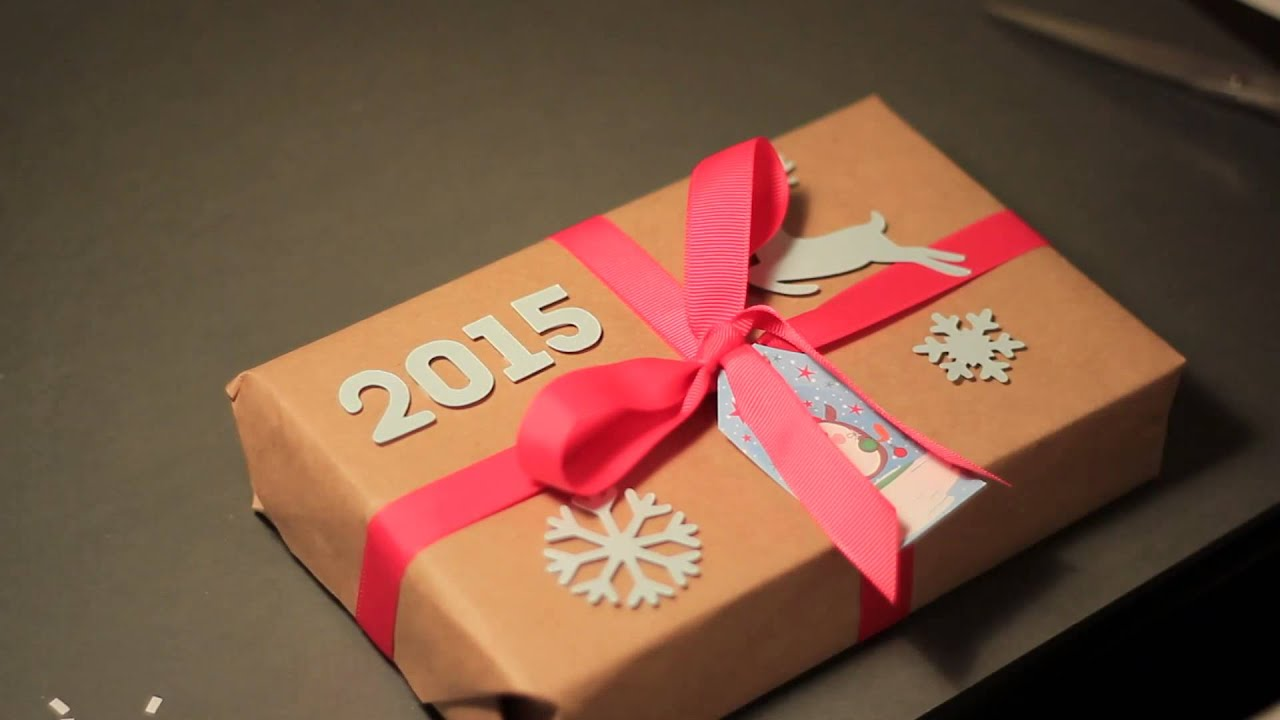 Красивое оформление подарка к новому году своими руками