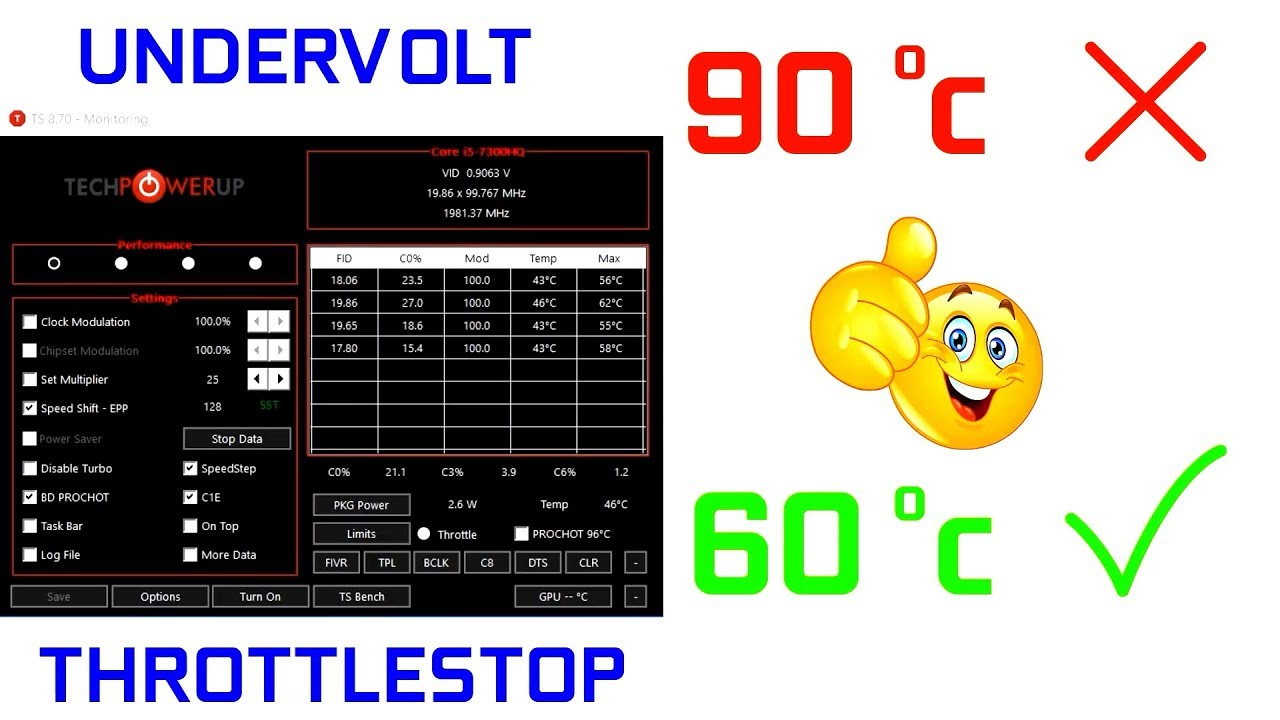 How To Undervolt Your Laptop CPU With ThrottleStop
