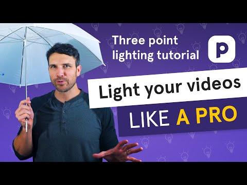 Light your videos LIKE A PRO (three point lighting tutorial)