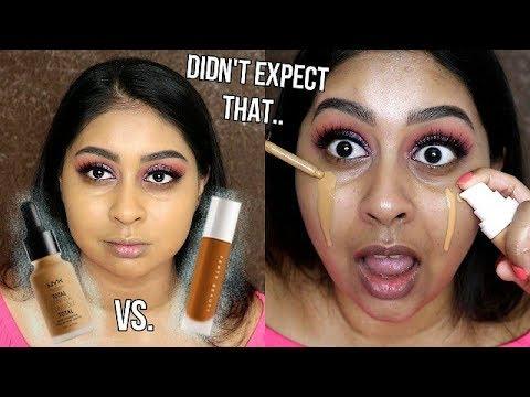 Fenty Beauty Pro Filt'r Foundation vs. NYX Total Control Drop Foundation | Wear Test
