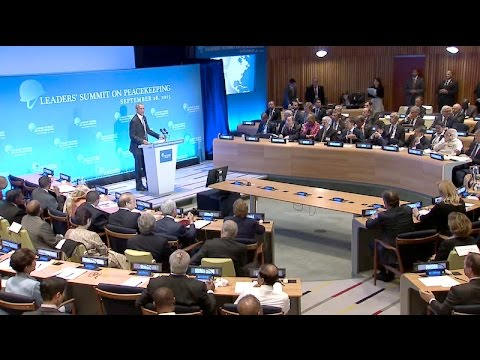 The President Speaks at the U.N. Peacekeeping Summit