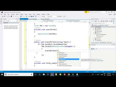 C#tutorial:how To Make  Chat Application  Visual Stdio 2015