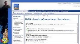 IBAN und BIC Code ermitteln
