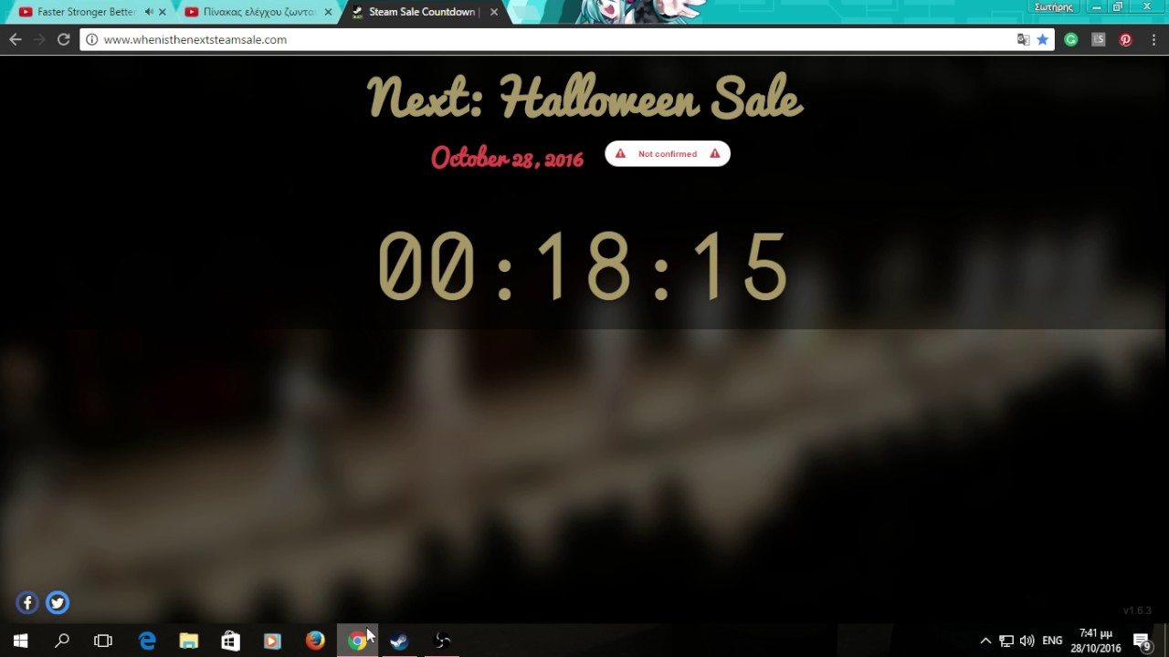 STEAM HALLOWEEN SALE 2016 LIVE COUNTDOWN - YouTube
