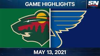 NHL Game Highlights | Wild vs. Blues - May 13, 2021