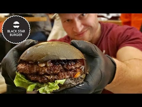 Eating Russia's BLACK STAR Burger by Тимати (Timati)