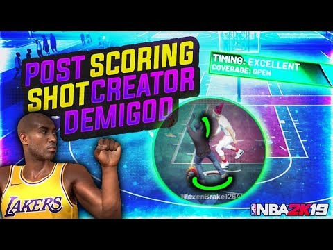 MY POST SCORING SHOT CREATOR is INSANE! KOBE BRYANT BUILD on 2s - NBA 2K19