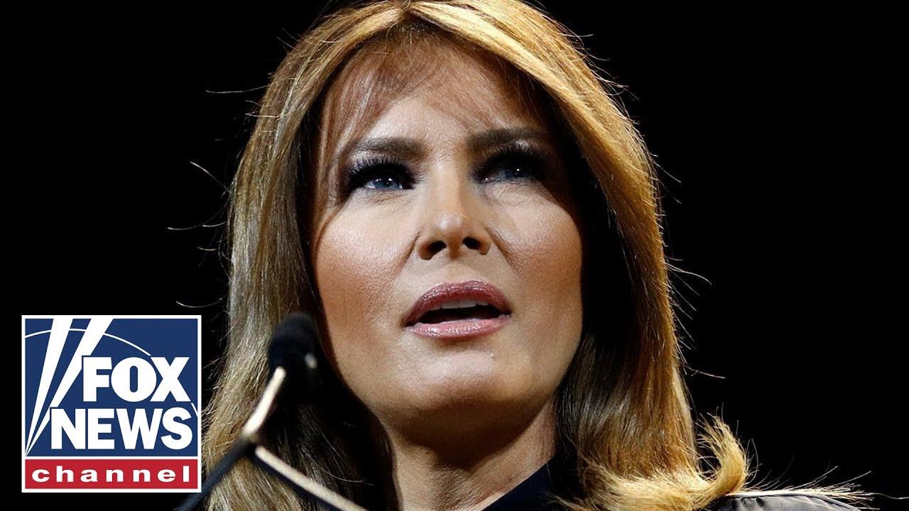 First Lady Melania Trump speaks at the DOJ National Opioid Summit