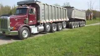 1999 PETERBILT 11 AXLE DUMP TRUCK For Sale