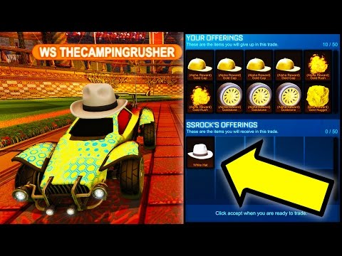 I GOT THE $7000 WHITE HAT!! ( $14000 TRADE IN ROCKET LEAGUE )