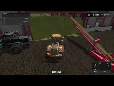 Farming simulator 17 filling up the silage Part 1