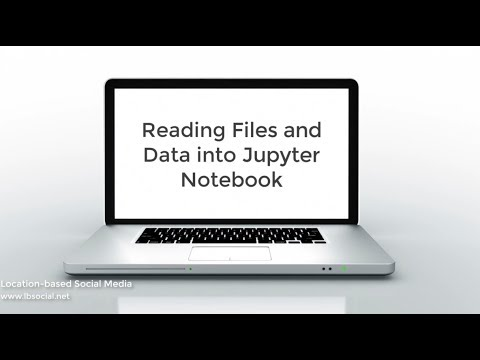 Reading Files and Data into Jupyter Notebook