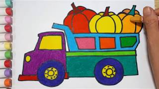 How To Draw A Truck And Pumpkin    Draw For Kids