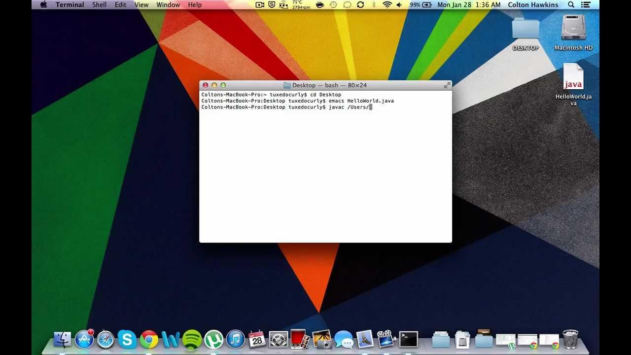 run java program in terminal mac