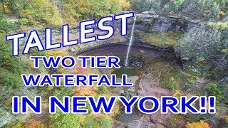 Stunning Waterfall captured by drone! Kaaterskill Falls - Hunter, NY - Greene County